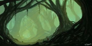 Gloomy Forest by willroberts04