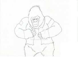 GuerrillaGorilla2 pencils work in progress by Blaze-Belushi