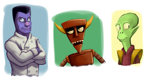 Futurama Doodles by forte-girl7