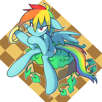 She gotta go fast! by red-poni