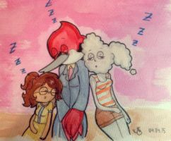 Sleeping girl's by JenyLittlie123