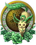 Leafeon Among The Roses by Sonicgirl582