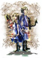 Alice Liddell meets Alvin Liddell by The-Itchy-Bird