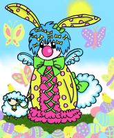 Easter Bunny Clown Vatta by Pumpkin-Queen-Ildi