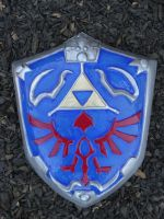 Twilight Princess Hylian Shield by meanlilkitty
