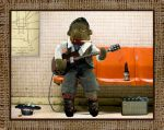 Clive busking in the subway by EyeBallPingPongPro