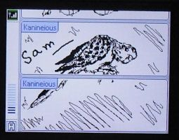 Sam on Pictochat by kanineious