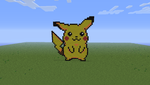 Pikachu pixel art by unusualguy1