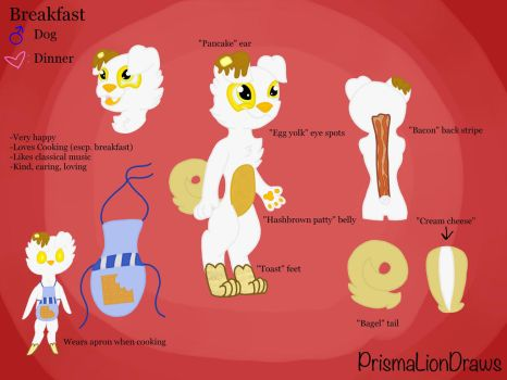 Breakfast Ref. Sheet  by PrismaLionDraws