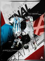 World Cup Final Poster - Germany v Argentina by AlbertGFX