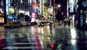 Tokyo raining -reflect- color version by free-way-of-life
