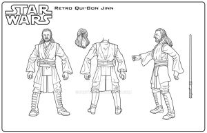 Star Wars: Retro Qui-Gon Jinn input by indy1725