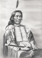 Indian Chief Red Cloud by Johnbalestrino