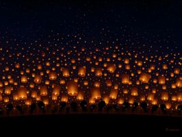 Sky Lanterns by vladstudio