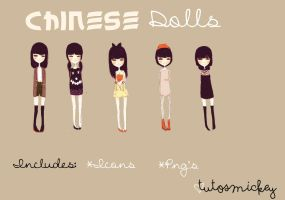 Chinese Dolls ~ Monas Chinas by TutosMickey