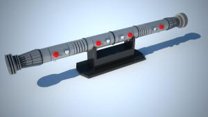 Darth Maul Lightsaber VRay by tom55200