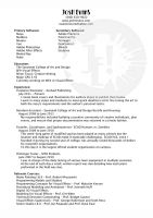 Resume by youngyoda13