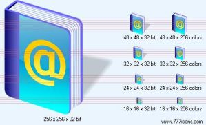 Address book SH6 Icon by jpeger