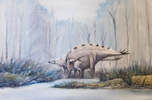 Stegosaurus from Sharypovo (Russia) by Antresoll