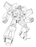 TFOC Laserbot lines by beamer