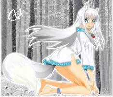 Lilly nila wolf godess holo the wise wolf by Lilly-Nila