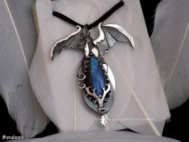 'World of Warcraft, Ysera' sterling silver pendant by seralune