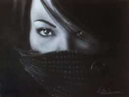 Charcoal portrait. by senacha-neeta