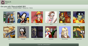 2011 Art Meme with Diana-M by EzzyAlpha
