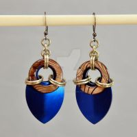 Tortoise Shell and Scale Earrings by chef-chad