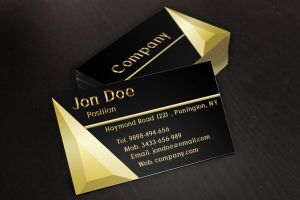 Black and Gold Jewelry Business Cards Template by BorceMarkoski