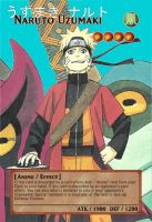 Yugioh! Orica: Naruto Uzumaki Monster Card by animereviewguy