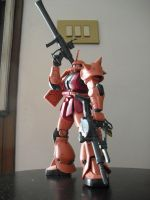 MS-06S Zaku II Commander Type by JohnLebrex