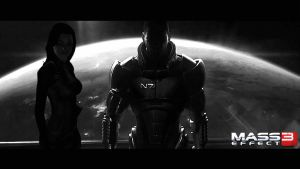 Shepard and Miranda in ME3 by Cain69
