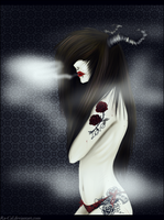 Girl With Roses. by Ra-Cal