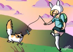 Fionna and Cake by Thatonegirludontknow