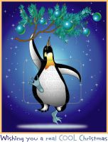 Penguins Cool Christmas by HouseofChabrier