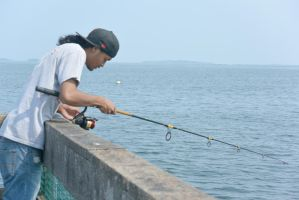 Fishing On the Pier 5 by Miss-Tbones