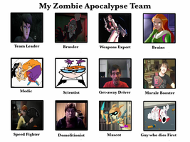 Another Zombie Apocalypse Team by Mr-Wolfman-Thomas