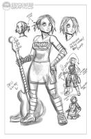 Kendra Character Design Concept - APproval Sketch by EryckWebbGraphics