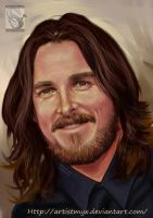 Christian Bale(Batman) - Study #10 by artistmyx