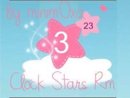 clock Stars Rainmeter Skin by Minim0xa