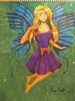 Butterfly girl by Quana0204