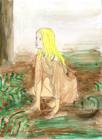 Ayla in a forest by mene