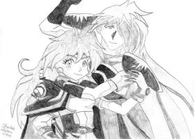 Lina and Gourry by cthu