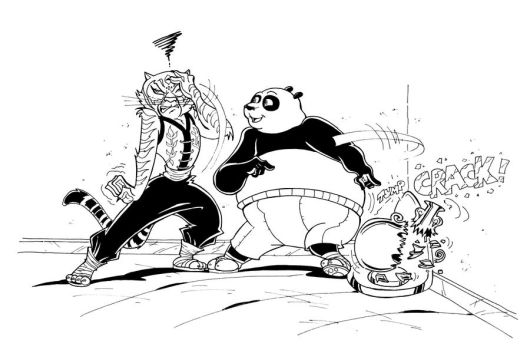 KUNG FU PANDA MUSCLE GROWTH - Commission 2 by Manthomex