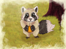 Little racoon by Karaikou