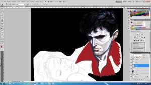 Dylan Dog and Lillie [step2] by aRmydesigner