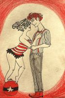 Circus couple by padfootlestrange