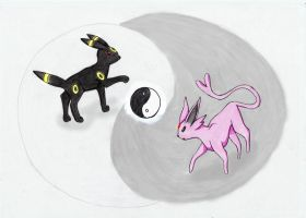 Umbreon and Espeon - Ying and Yang by MewMisaki