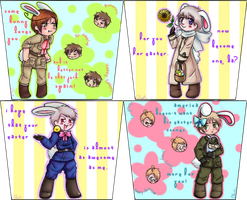 Hetalia Easter Panels by zvezdnyy